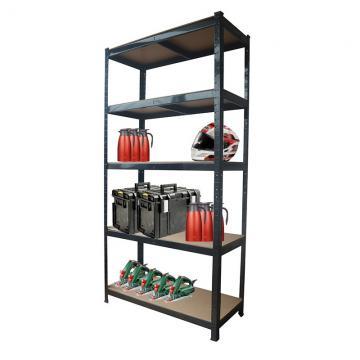 Metal Long Span Warehouse Storage 4-Tier Shelving Unit