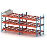 Adjustable Warehouse Heavy Duty Gravity Roller Rack