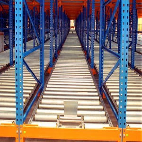 Warehouse Industrial Storage Steel Pallet Carton Gravity Flow Rollers Rack #1 image