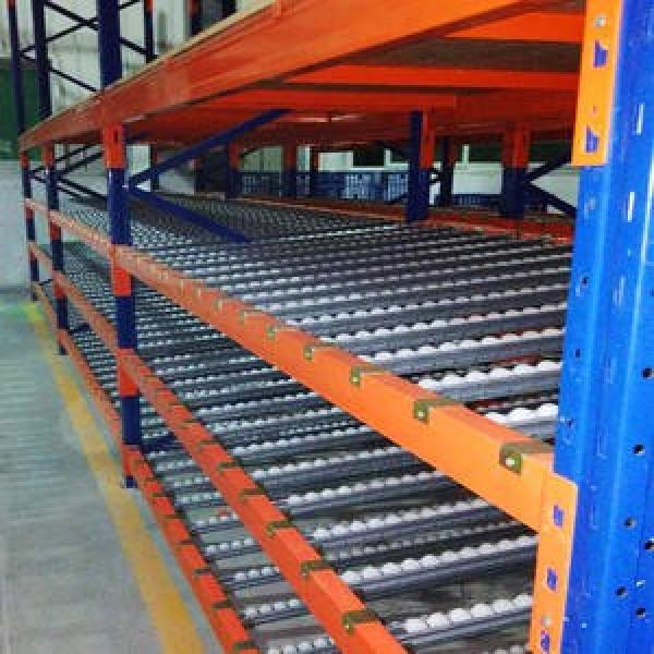 Warehouse Storage Slide Gravity Carton Flow Pallet Roller Rack #2 image