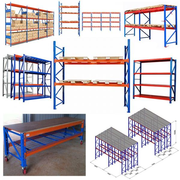 Heavy Duty Industry Display Selective Stacking Galvanized Mezzanine Cantilever Warehouse Storage Metal Shelf Pallet Steel Cargo Rack #3 image
