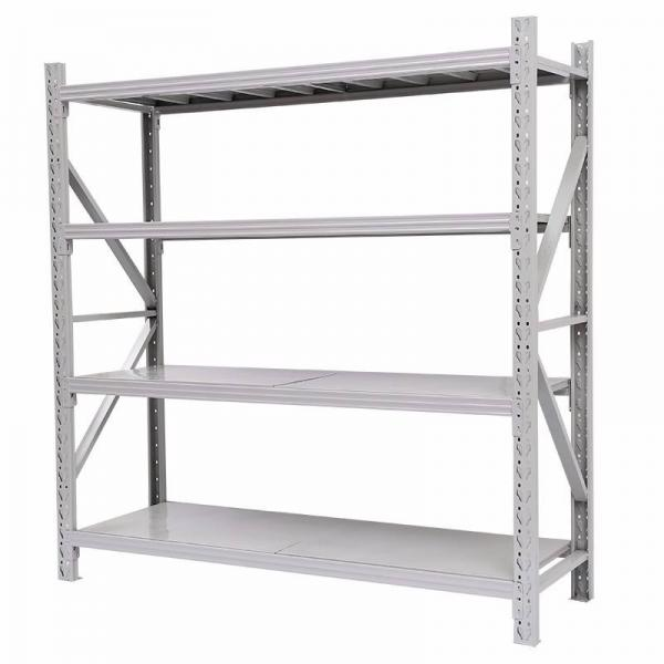 Heavy Duty Stacking Galvanized Warehouse Storage Mezzanine Cantilever Teardrop Shelf Metal Steel Shuttle Rack #1 image