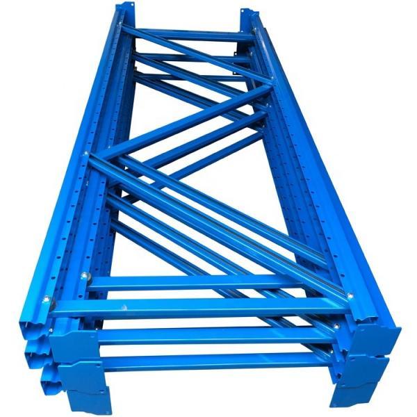 Galvanized Steel Wire Rolling Container Storage Cage, Warehouse Pallet Storage Rack #2 image
