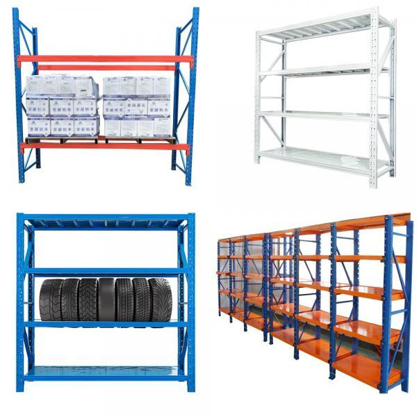 Heavy Duty Stacking Galvanized Warehouse Storage Mezzanine Cantilever Teardrop Shelf Metal Steel Shuttle Rack #3 image