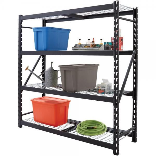 Warehouse Storage Steel Light Duty Boltless Rack Shelving Units #3 image