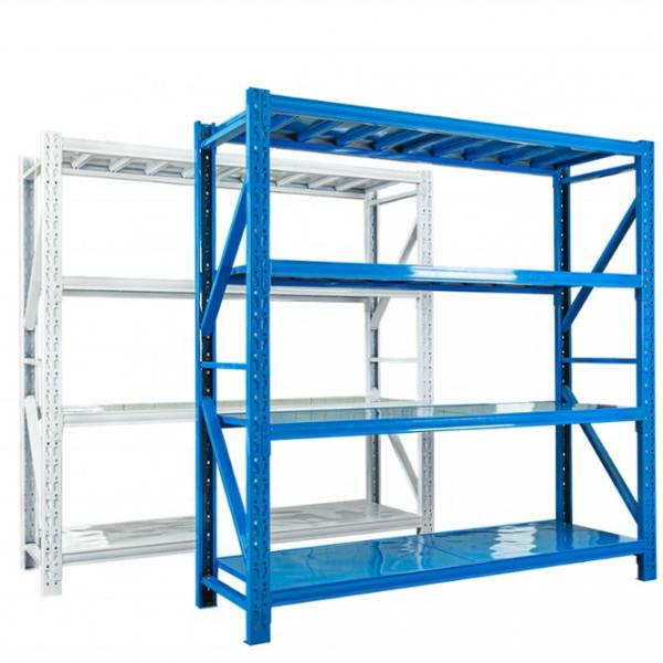 4 Layers Stainless Steel Storage Shelving Units with Casters Use in Garage Warehouse #2 image
