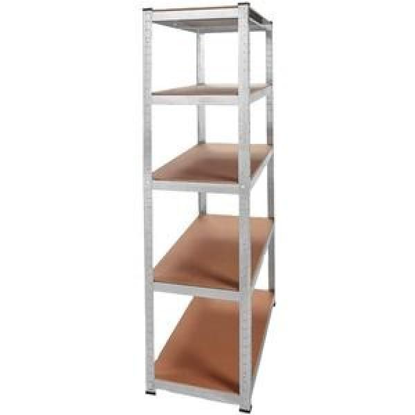 5 Tiers Durable Steel Rack Snacks Storage Shelving Unit with Castors #3 image