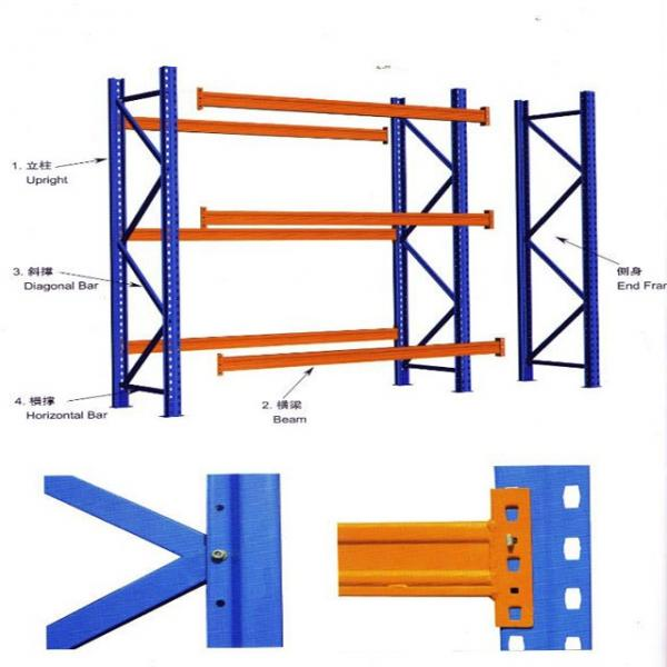Warehouse Industrial Carton Flow Steel Rack and Gravity Rolling Racking #1 image