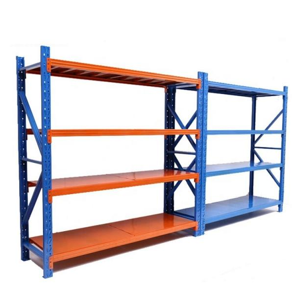 5 Tiers Durable Steel Rack Snacks Storage Shelving Unit with Castors #2 image