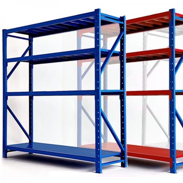 Small Size 5 Shelf Black Open Metal Office File Display Storage Rack Shelving Unit #3 image